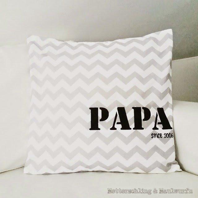 Kissen – beplottete Geschenk Ideen zum Vatertag