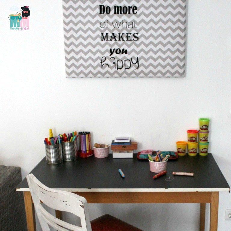 Der perfekte Kindertisch – DIY / Maltisch selber machen