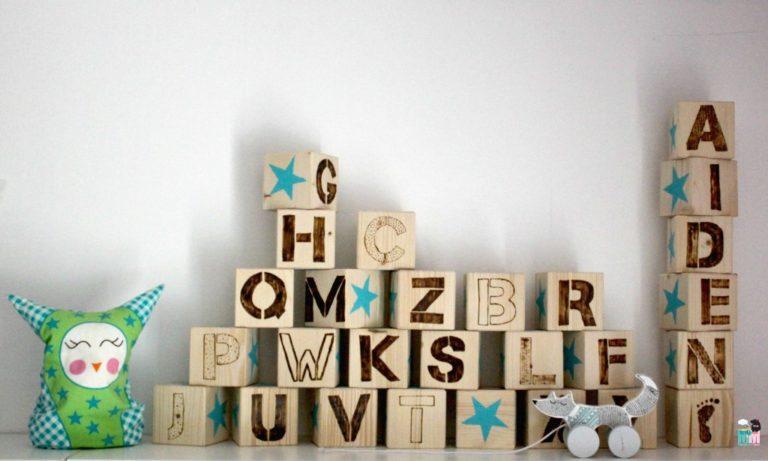 DIY – abc Holzwürfel fürs Kinderzimmer