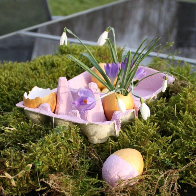 4 einfache Osterideen  //  Kerze , Gipseier, Eierkarton & Vase