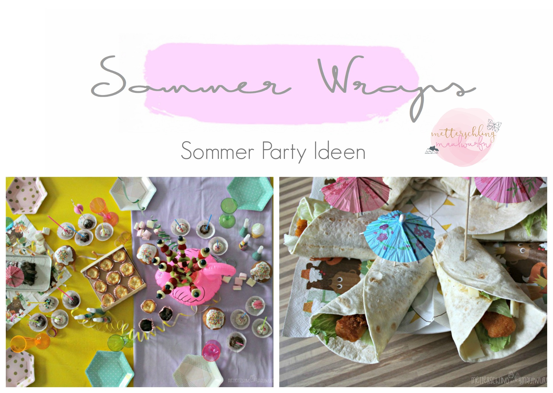Sommer party wraps kinder geburtstag