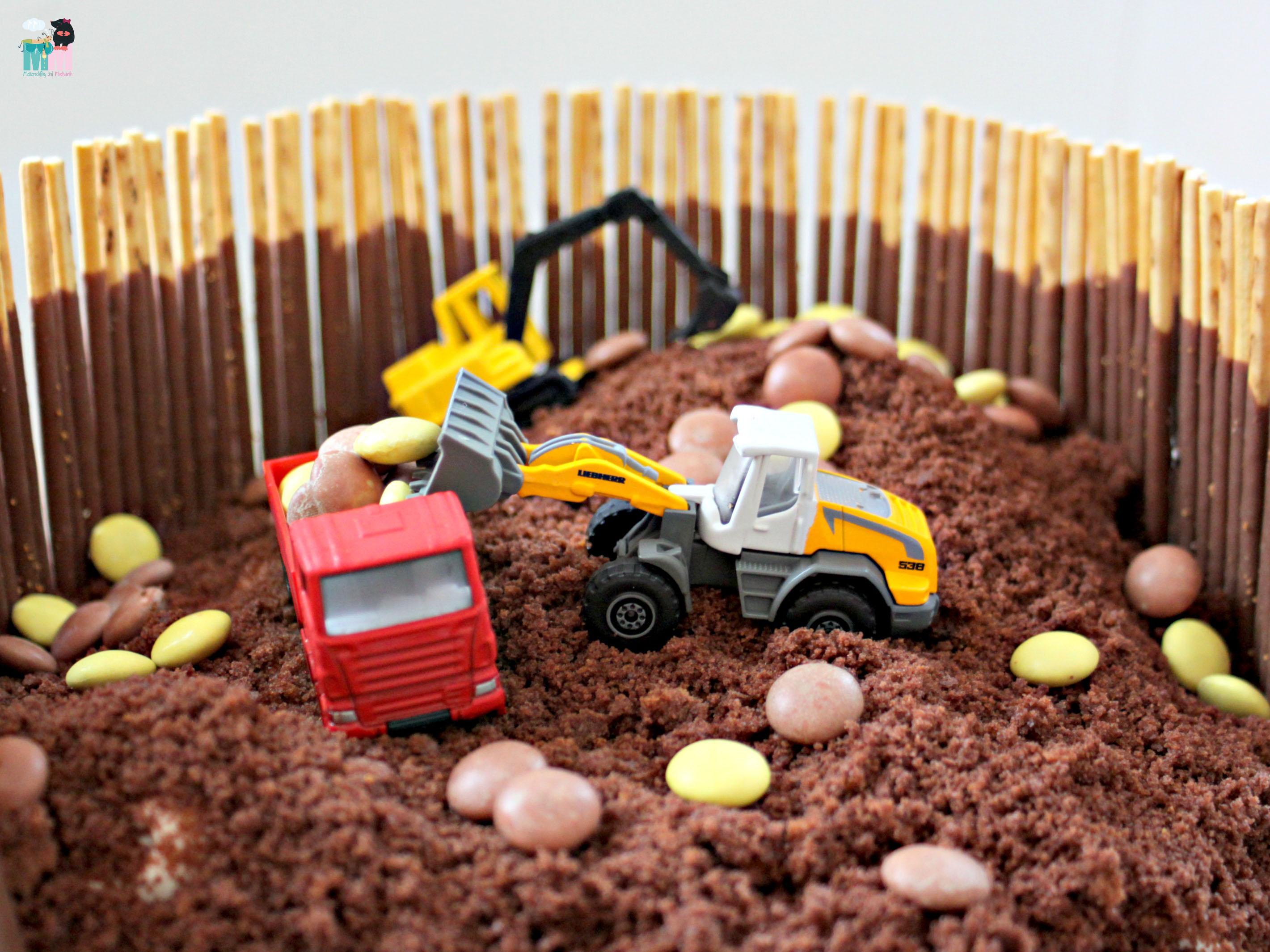 Bagger Kuchen Idee Idiotensicher Metterschling Und Maulwurfn