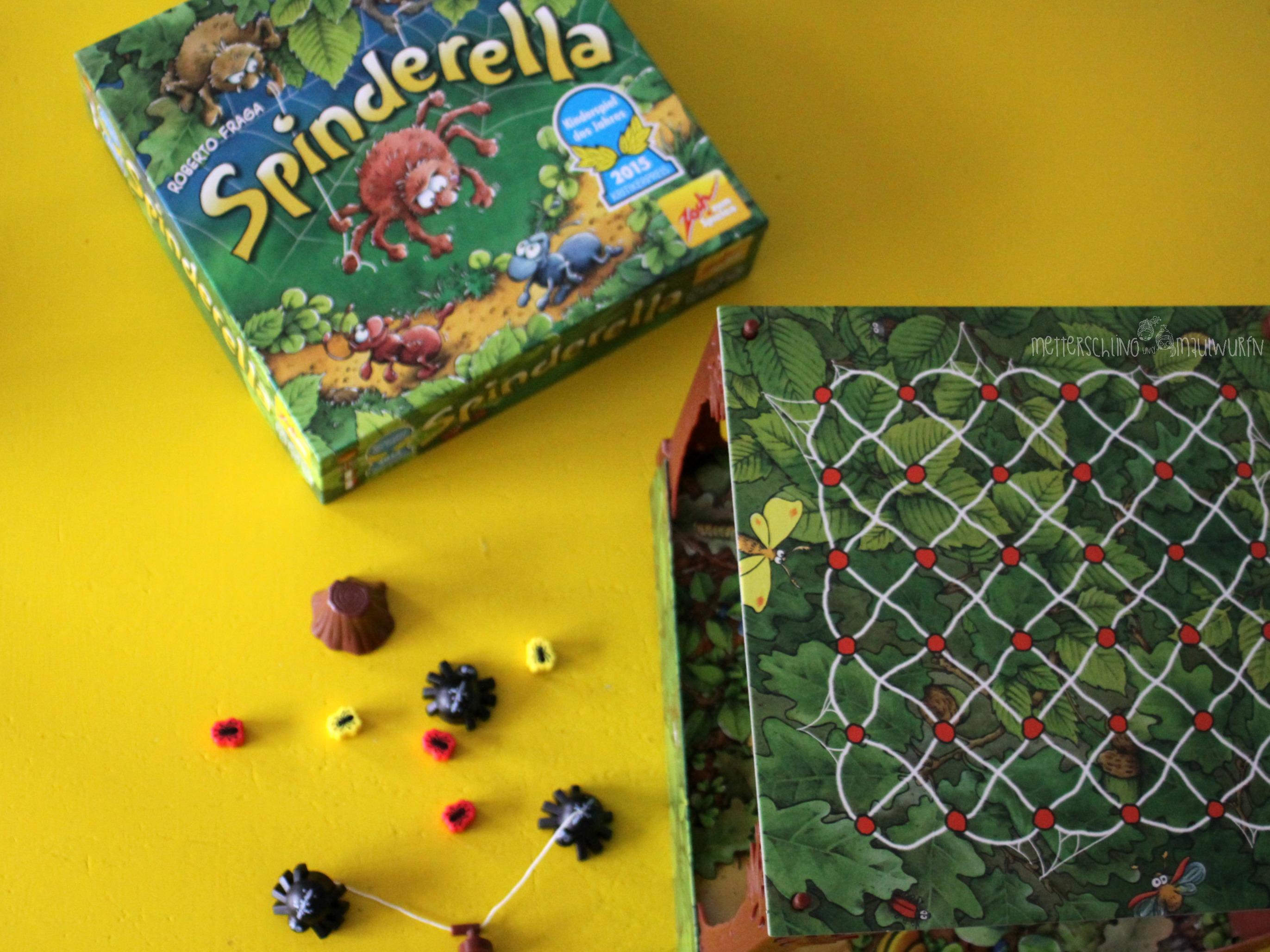 Geschenk Tipp: Spinderella – das Kinder Spiel ab 6 Jahre