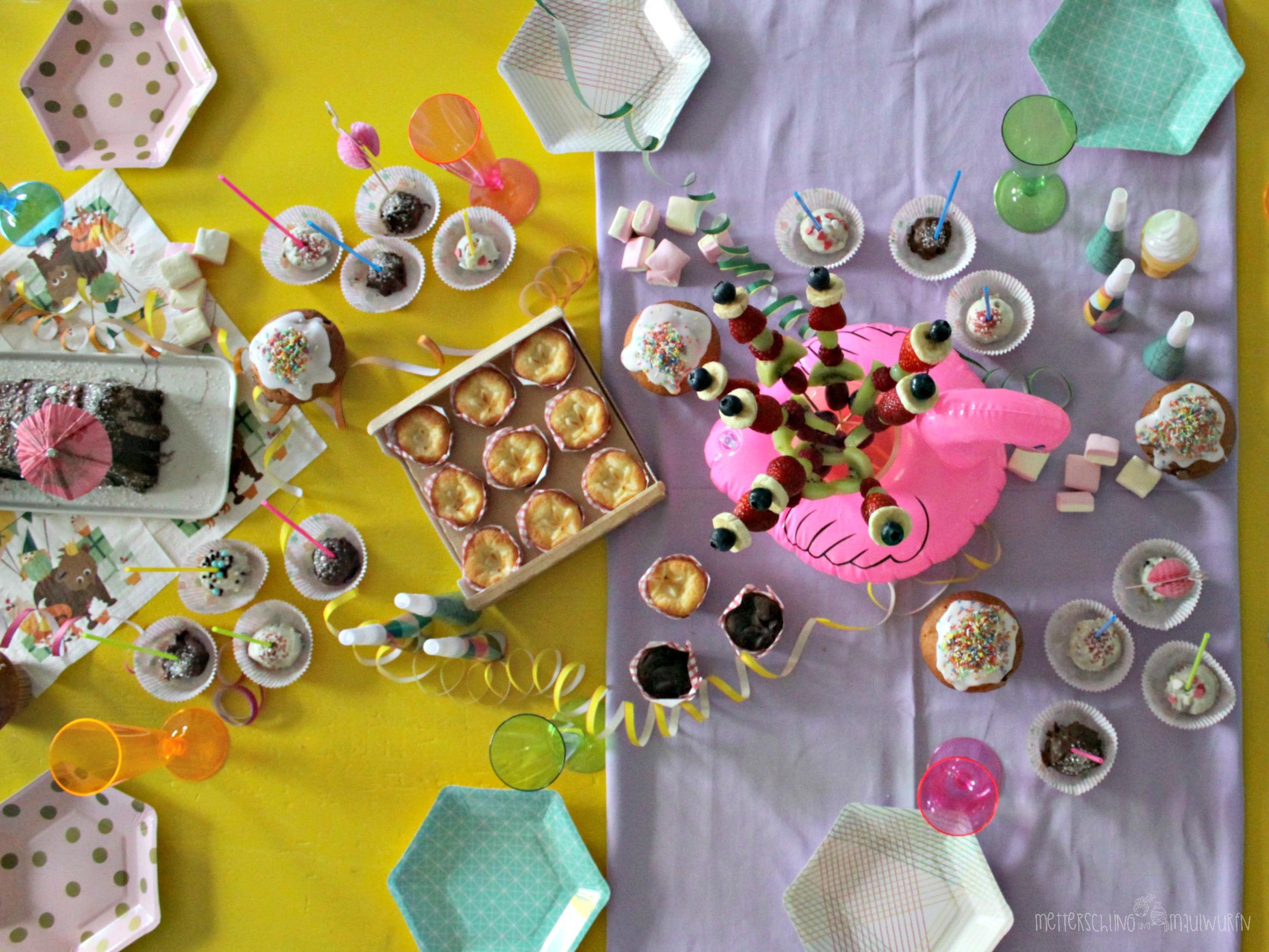 Sommer Party mit Eis und Wraps / Talking Tables / Kinder Geburstags Ideen