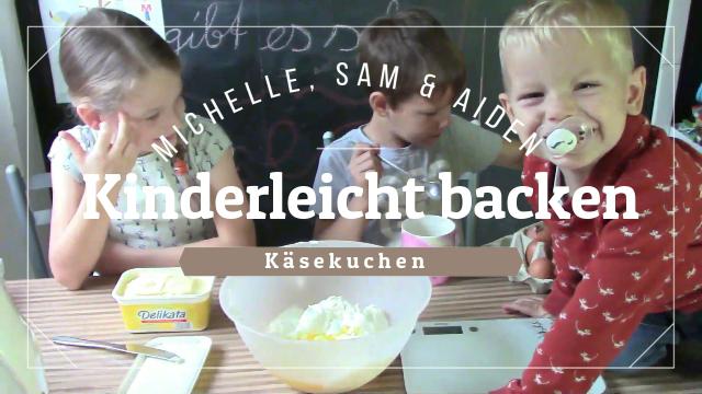 Käsekuchen / Quark Kuchen Rezept – mit Kindern backen