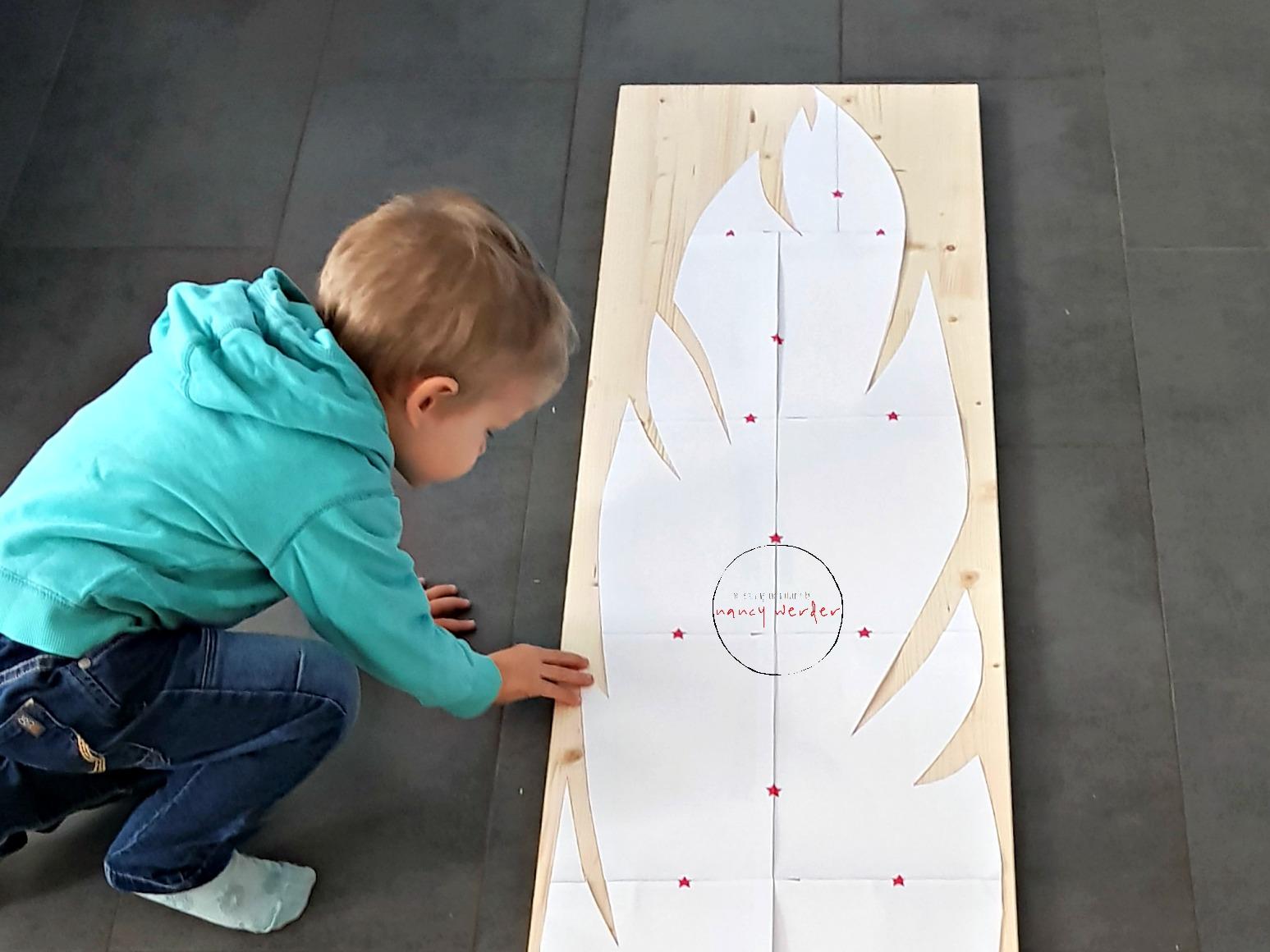 Feder Messlatte aus Holz selbermachen / Schnittmuster & Anleitung Freebie